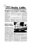 New Mexico Daily Lobo, Volume 083, No 39, 10/18/1979