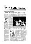 New Mexico Daily Lobo, Volume 083, No 40, 10/19/1979
