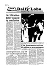 New Mexico Daily Lobo, Volume 083, No 107, 3/3/1980 by University of New Mexico