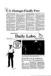 New Mexico Daily Lobo, Volume 085, No 79, 1/21/1981
