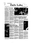 New Mexico Daily Lobo, Volume 087, No 16, 9/13/1982