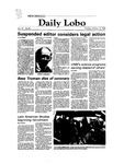 New Mexico Daily Lobo, Volume 087, No 42, 10/19/1982