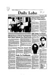 New Mexico Daily Lobo, Volume 087, No 126, 4/1/1983