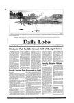 New Mexico Daily Lobo, Volume 088, No 145, 4/27/1984 by University of New Mexico