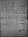 Deming Headlight, 01-18-1890 by J.E. Curren