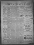 Deming Headlight, 01-25-1890 by J.E. Curren
