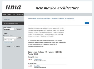 Site for New Mexico Architecture