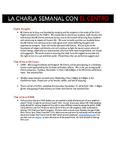 La Charla Semenal con El Centro - Nov 14 2016