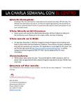 11-28-2016 La Charla Semenal con El Centro by El Centro de la Raza