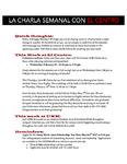 La Charla Semanal con El Centro - Feb 13 2017