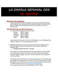 03-20-2017 La Charla Semanal con El Centro by El Centro de la Raza