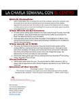 05-05-2016 La Charla Semanal con El Centro by El Centro de la Raza