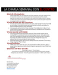 05-05-2016 La Charla Semanal con El Centro