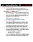 02-06-2017 La Charla Semanal con El Centro by El Centro de la Raza