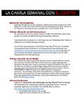 La Charla Semanal con El Centro - Feb 20 2017