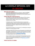 02-27-2017 La Charla Semanal con El Centro