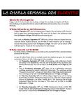 09-18-2017 La Charla Semanal con El Centro