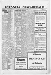 Estancia News-Herald, 06-30-1921 by J. A. Constant