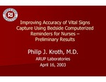 Improving Accuracy of Vital Signs Capture Using Bedside Computerized Reminders for Nurses — Preliminary Results