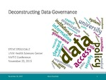 Deconstructing Data Governance by Steve Stockdale