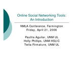 Online Social Networking Tools: An introduction