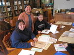 Paulita Aguilar With Students From Santa Fe Indian School by Paulita Aguilar