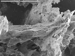 Platy manganese oxide with bridging filaments