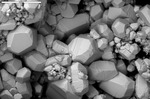 Euhedral calcite crystals