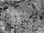 Overview of platy crystals and debris