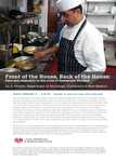 Front of the House, Back of the House: Race and Inequality in the Lives of Restaurant Workers