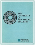 Bulletin and Announcements, 1978-1979 by University of New Mexico School of Law