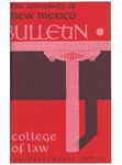 Bulletin and Announcements, 1955-1957 by University of New Mexico School of Law