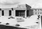 Exterior shot of Dean's Courtyard. by University of New Mexico School of Law