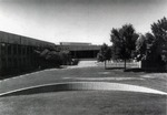 Exterior view of North Patio, Summer by University of New Mexico School of Law