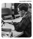 Caption: Law Student Studying by University of New Mexico School of Law