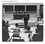 Caption: Students arguing in Appellate Moot Court. by University of New Mexico School of Law