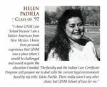 Student Profile: Helen Padilla Class of 1997 by University of New Mexico School of Law