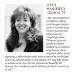 Student Profile: Leslie Mansfield Class of 1997 by University of New Mexico School of Law