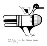 Caption: Bird design from San Ildefonso Pueblo Indian pottery.