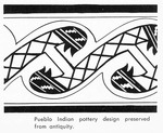 Caption: Pueblo Indian pottery design preserved from antiquity.