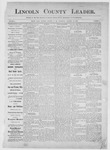 Lincoln County Leader, 10-28-1882