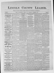 Lincoln County Leader, 11-04-1882