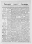 Lincoln County Leader, 11-25-1882