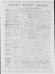 Lincoln County Leader, 04-21-1883