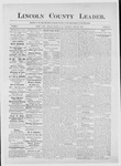 Lincoln County Leader, 04-28-1883