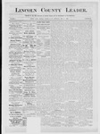 Lincoln County Leader, 05-05-1883