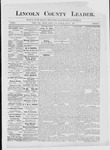 Lincoln County Leader, 05-12-1883