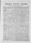 Lincoln County Leader, 07-14-1883