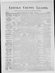 Lincoln County Leader, 07-21-1883