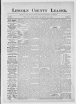Lincoln County Leader, 07-28-1883